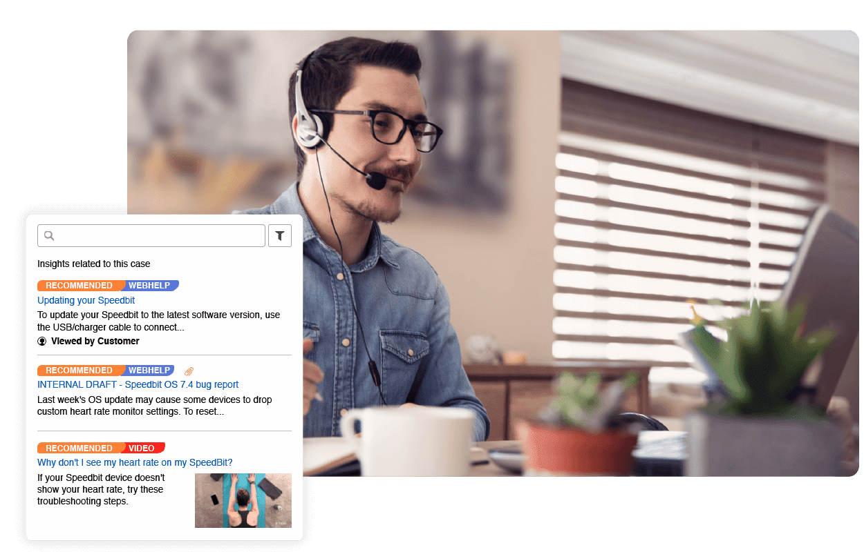 Quick resolution call center support
