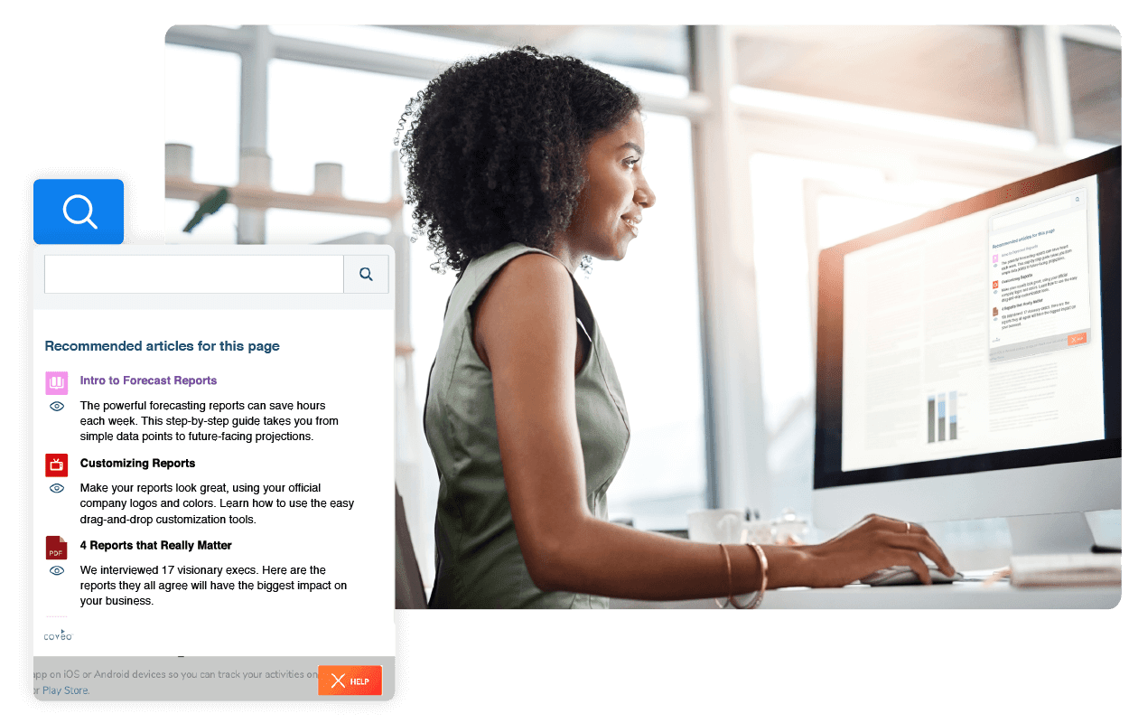 self-service portal that lets users request help with ease